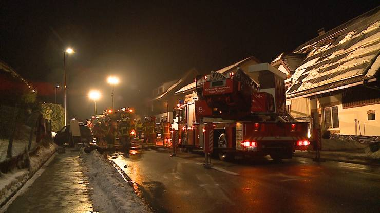Betroffen war ein Einfamilienhaus an der Köllikerstrasse in Safenwil.