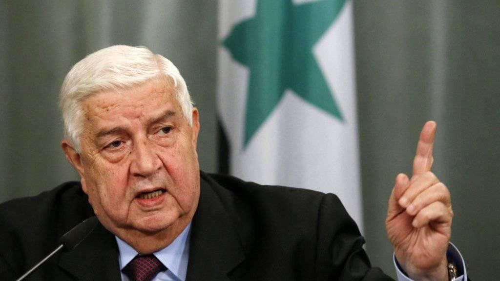 Der syrische Aussenminister Walid Muallem zeigte sich bereit, an den Friedensgesprächen in Genf teilzunehmen. (Archiv)