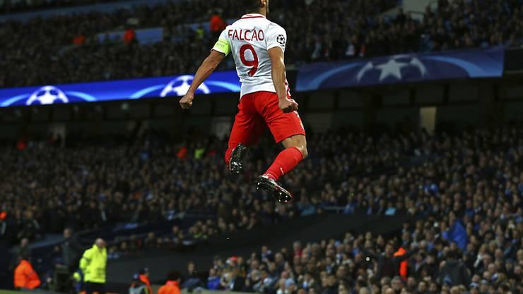 Monaco-Stürmer Falcao war im Auswärtsspiel bei Manchester United die grosse Nummer