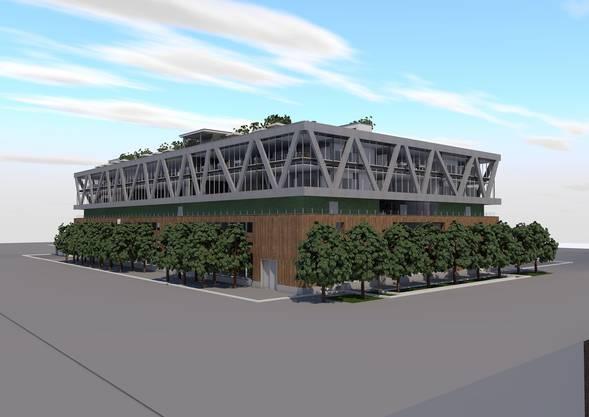 Visualisierung uptownBasel Gebäude 1