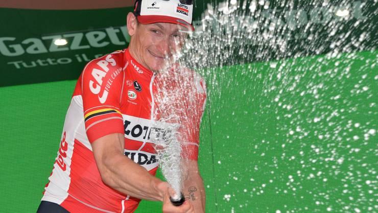 Andre Greipel durfte auch in Foligno den Champagner verspritzen