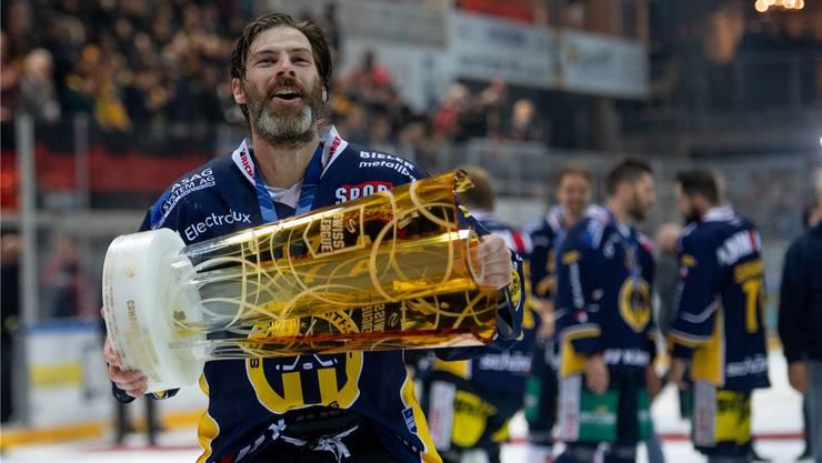 Philipp Rytz wurde mit Langenthal in drei Saisons zwei Mal Meister