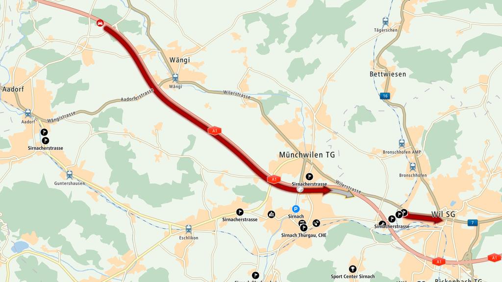 Auf der Autobahn A1 war am Mittwoch Geduld gefragt.