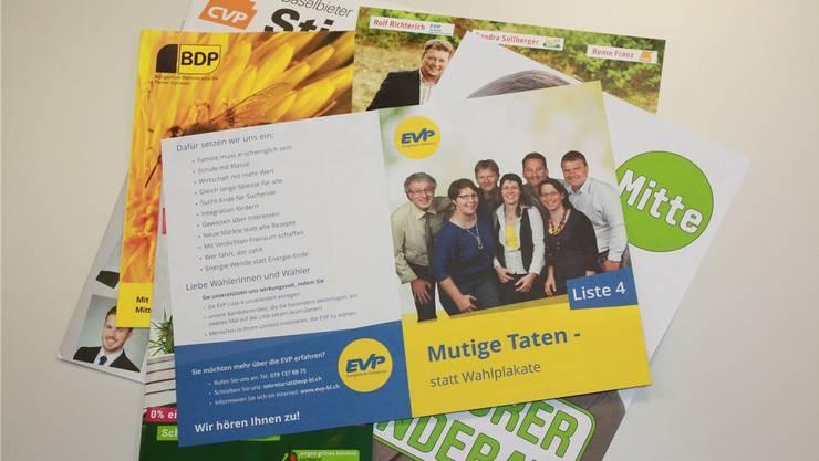 Der Flyer der EVP wird für dieses Mal nicht in Arlesheimer Haushalte geschickt.