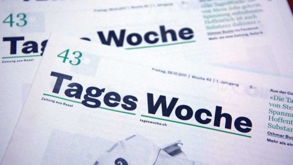"""Die druckfrische erste Ausgabe der """"TagesWoche"""" . (Archivbild)"""