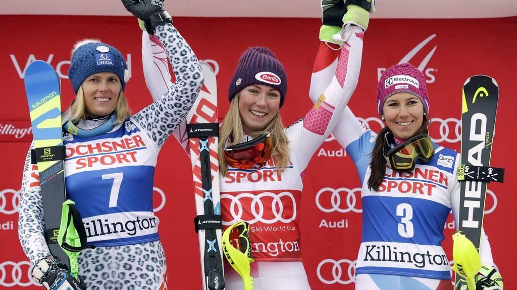 Mikaela Shiffrin gewann den Slalom in den USA.