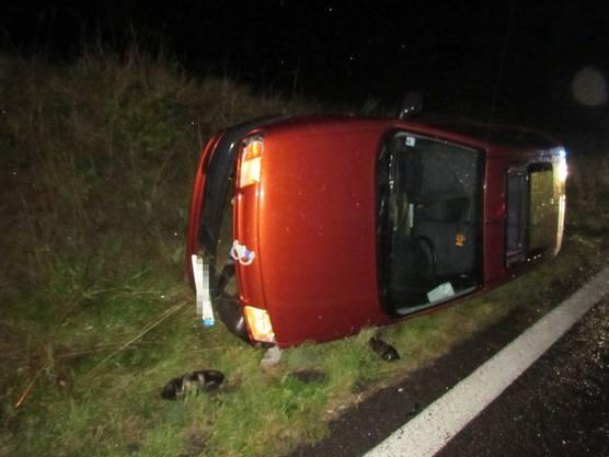 Die beiden Autoinsassen wurden nicht verletzt. Sie kamen mit dem Schrecken davon.