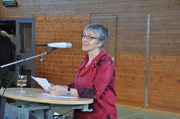 Präsidentin der Kulturkomission Käthi Hitz hiess die Gäste herzlich Willkommen