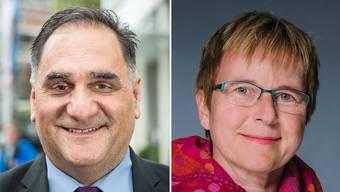 Duellieren sich um das Bezirksrichteramt: Antonino Vecchio (CVP) und Susanne Baumgartner (EVP).