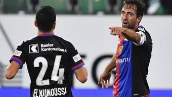 Impressionen vom Spiel des FC Basel in St. Gallen