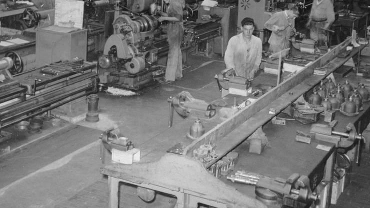 Blick in die alte Werkstatt der Schweizerischen Sodafabrik.