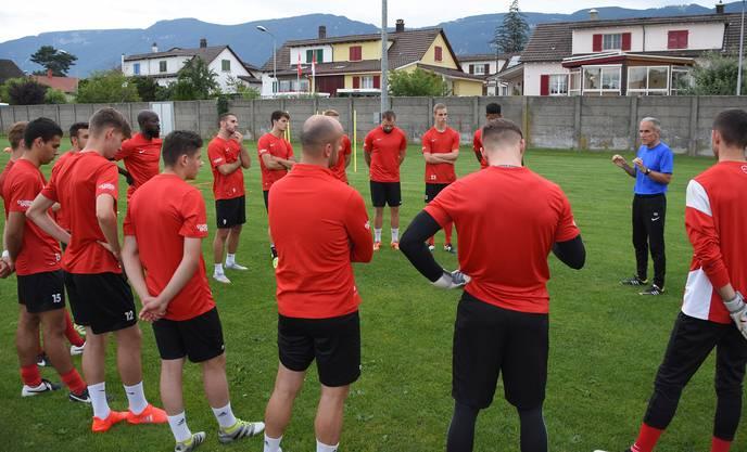 FC Solothurn im Training mit Bidu Zaugg