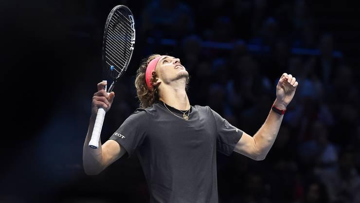 Alexander Zverev spielt am Sonntag gegen Novak Djokovic um den Titel.