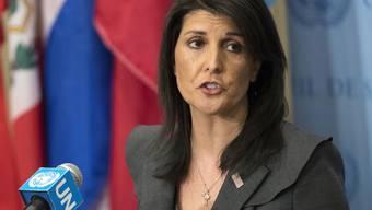 US-Aussenminister Mike Pompeo und die Uno-Botschafterin der USA, Nikki Haley (Bild), warfen dem Gremium Verlogenheit und israelfeindliche Haltungen vor.