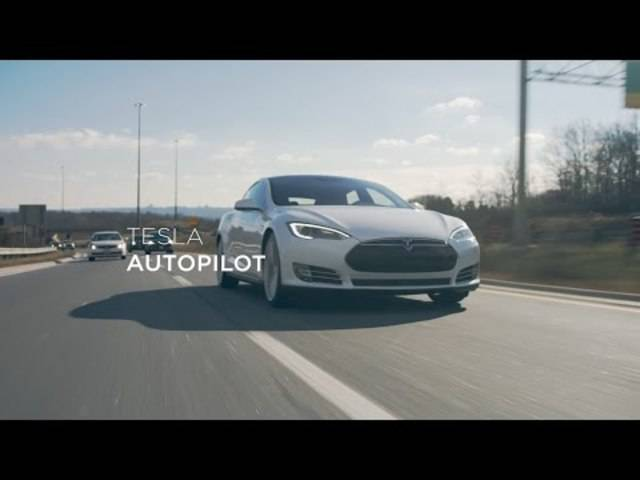 Tesla-Video: So sollten die Assistenzsysteme des «Model S» funktionieren.