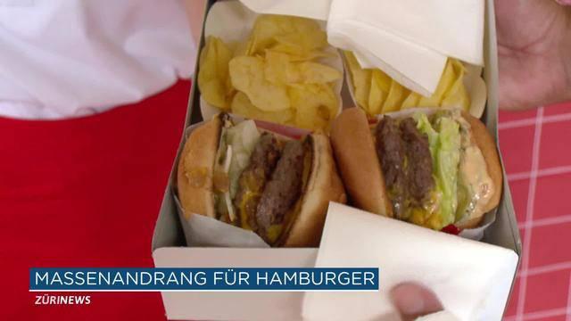 Zürcher stehen zwei Stunden für Burger an