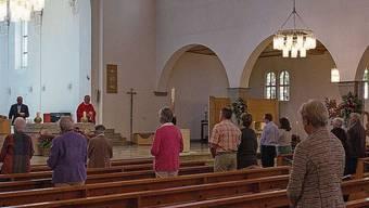 Die Gläubigen beim Pfingstgottesdienst in Muri.