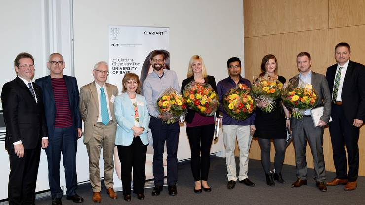 CleanTech Awards: Zum Bild: Gasser ist die fünfte Person von links, Löwenberg die zweite von rechts.
