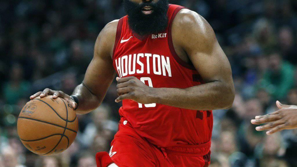James Harden führte die Houston Rockets in Boston mit 42 Punkten zum Sieg