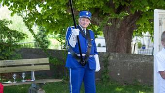 Fähnrich Fritz Nussbaum in der noch aktuellen Uniform.