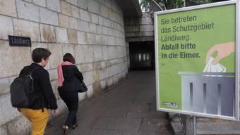 Schutzgebiet Ländiweg: Abfälle bitte in die Eimer heisst die Losung dieser «Entwicklungszone».
