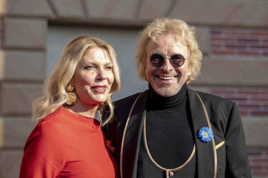 Thomas Gottschalk und Karina Mross zeigen sich zum ersten Mal gemeinsam in der Öffentlichkeit. (© Keystone)