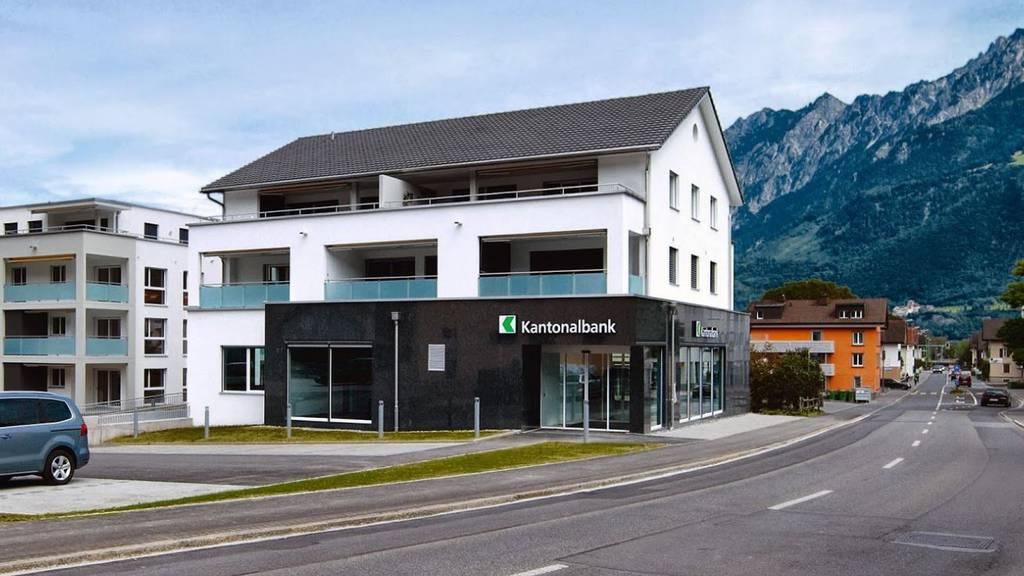 Die Kantonalbank in Sevelen: Hier trug sich die Tat zu.