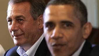 Der republikanische Oppositionsführer John Boehner (l.) und Präsident Barack Obama