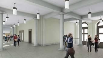 So sieht die Halle nach dem Umbau aus