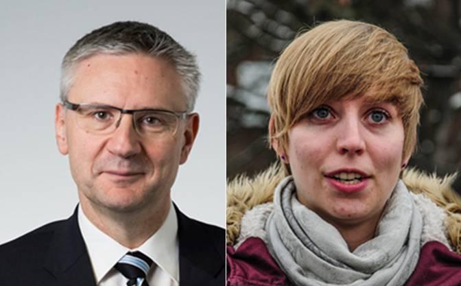 Andreas Glarner und Johanna Gündel