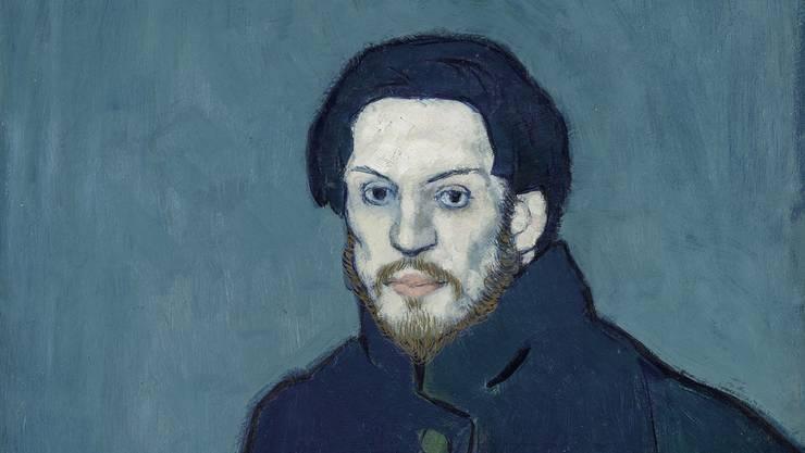 Bleich und leicht genervt: Picasso, wie er sich 1901 mit 20 Jahren gemalt hat. (Ausschnitt)