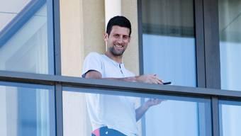 Novak Djokovic kommt in Adelaide in den Genuss eines grossen Balkons.