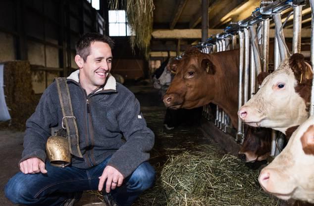 Bauern-Geschäftsführer Ralf Bucher in seinem Stall.