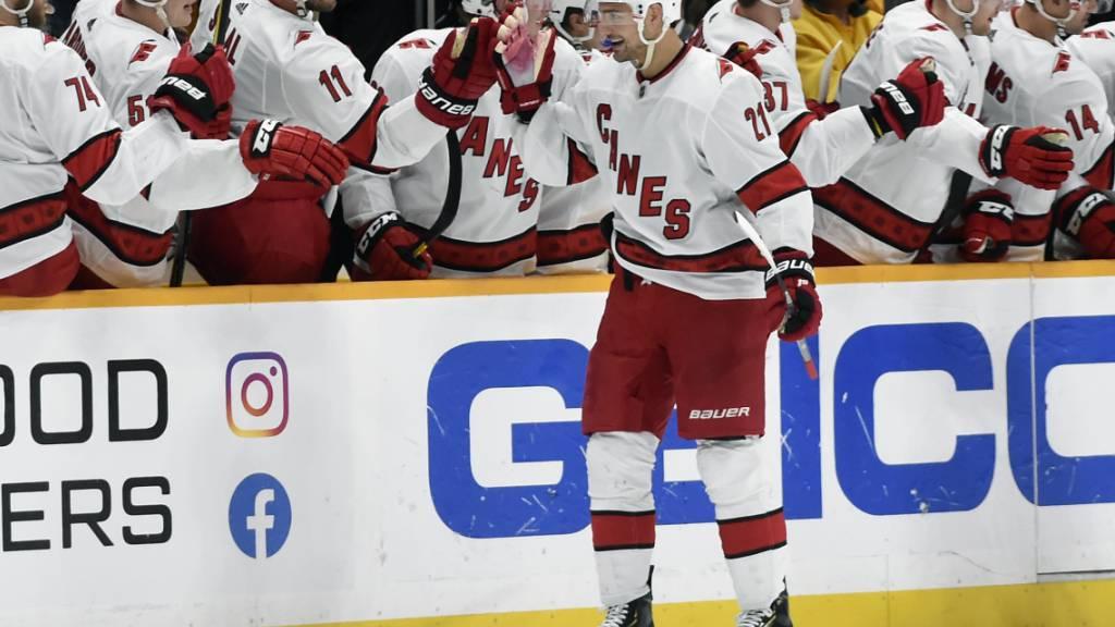 Nino Niederreiter erfreut sich in dieser NHL-Saison einer guten Form