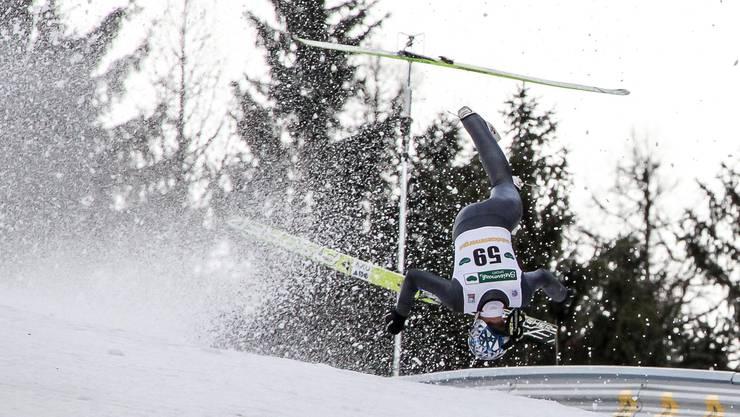Schwerer Sturz von Thomas Morgenstern im Training zum Skifliegen am Kulm in Bad Mitterndorf