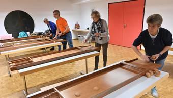Christina Corso, Reto Bär, Henny Beyeler und Gaby Bär (von links) trainieren alle zwei Wochen zusammen in Trimbach.