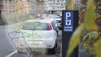 Die Übersicht über die Parkplatzgebühren.