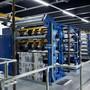 Die neue Druckmaschine von CH Media in der Druckhalle in Aarau.
