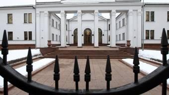Präsidentenpalast in Minsk, wo die Ukraine-Gespräche stattfinden