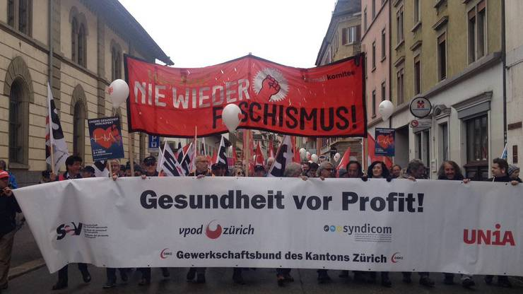 """Das 1.-Mai-Komitee und ihr diesjähriges Motto: """"Was tun! Nie wieder Faschismus!"""""""