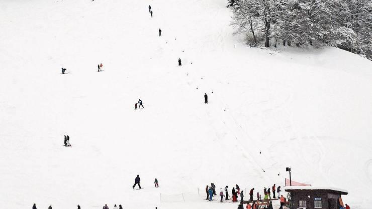 Ende 2014 hatte es beim Skilift Bottenwil genug Schnee.
