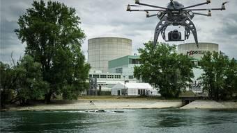Das AKW Beznau soll gegen Drohnenangriffe geschützt werden. (Montage)
