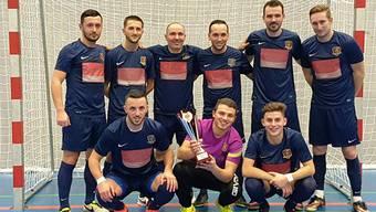 Siegerfoto der AFV-Futsal-Cupsieger Friends United.