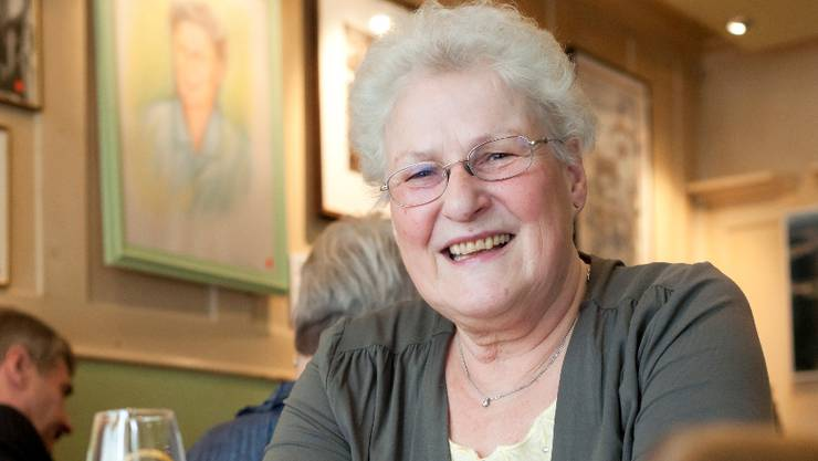 Beliebt und bescheiden: Wirtin Agnes Heuer wirtete 39 Jahre und 3 Monate im «Weissen Kreuz» in Mellingen. «Früher kamen keine Frauen in die Beiz.»