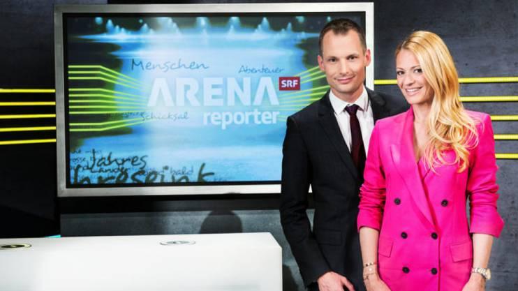 Die beiden stehen künftig am Sonntagabend gemeinsam vor der TV-Kamera: Jonas Projer und Christa Rigozzi moderieren «Arena/Reporter».