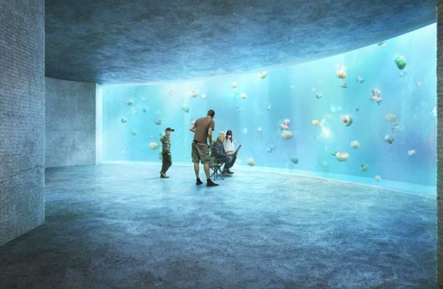 Computervisualisierung des Ozeanium Projektes des Zoo Basel