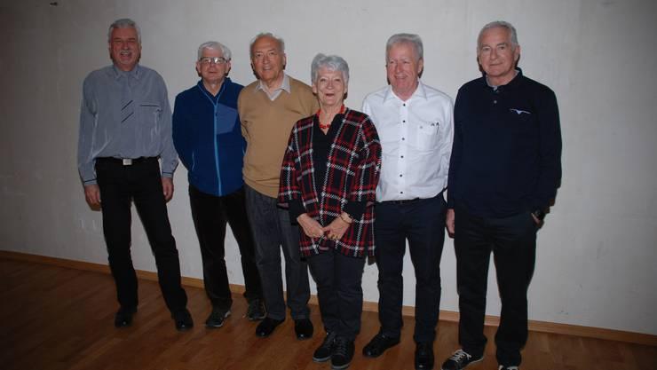 (von links) Peter Brunner, Thomas Gysel, Thomas Müller-Schill, Luciana Bachmann, Beat Brutschi, Edgard Kalt