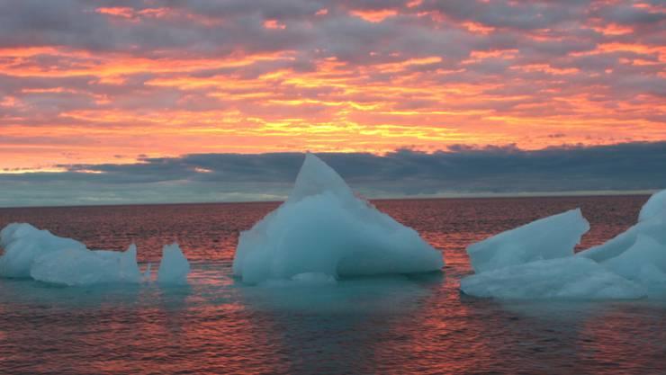 Schwimmende Eisbrocken im arktischen Meer vor Alaska. (Archivbild)