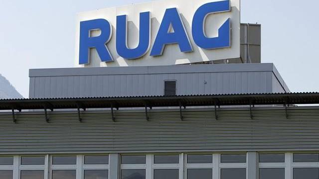 Blick auf ein Ruag-Gebäude: Die rund 100 Mitarbeiter von Ruag Coating werden weiterbeschäftigt (Archiv)