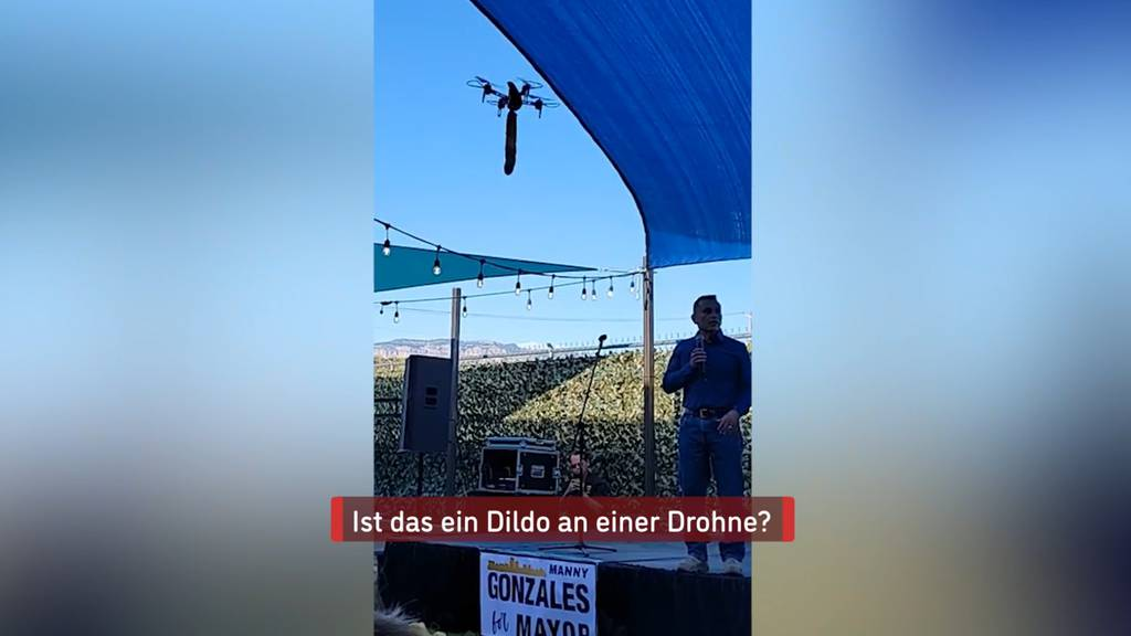 Dildo-Drohne crasht Wahlkampf-Veranstaltung